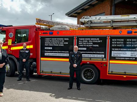 L R PCC Commissioner Jane Kennedy, Supt Mark Wiggins, MFRS Area Manager Gary Oakford#3