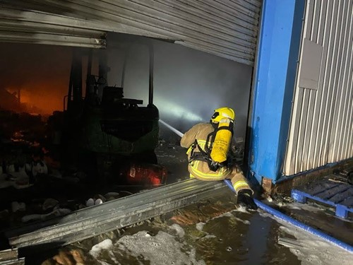 Fire at shop in Knowsley