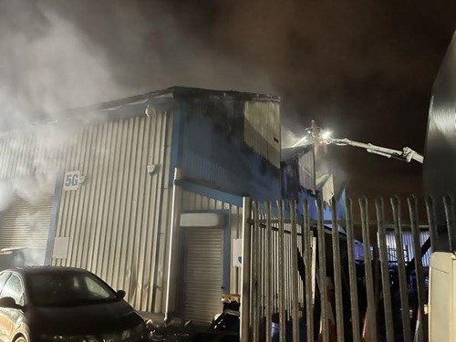 Fire in shop in Knowsley